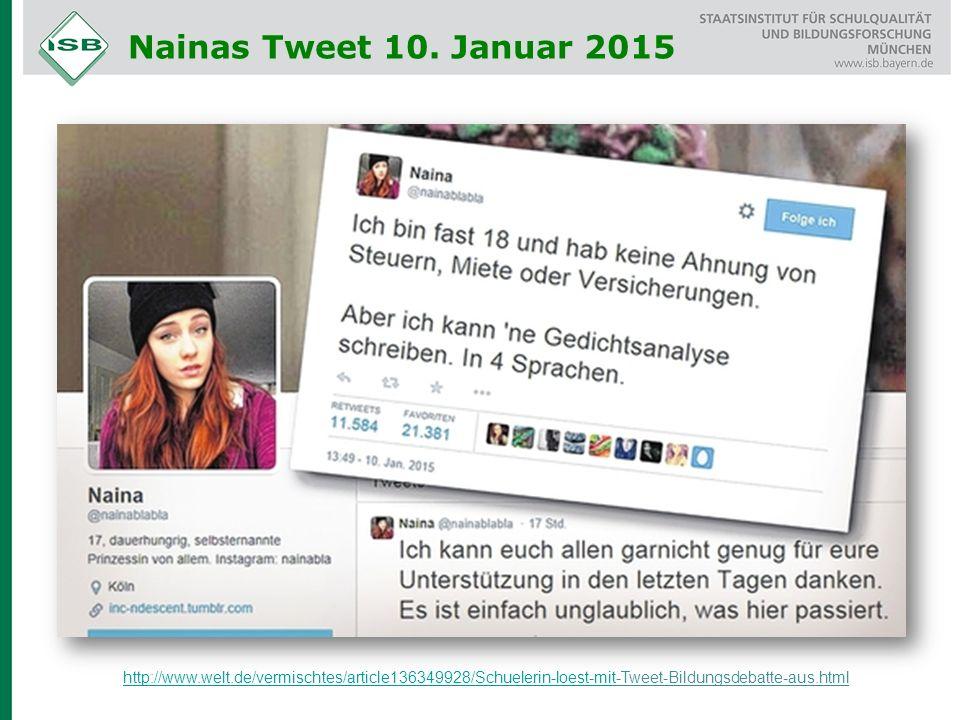 Nainas Tweet 10. Januar 2015 http://www.welt.de/vermischtes/article136349928/Schuelerin-loest-mithttp://www.welt.de/vermischtes/article136349928/Schue