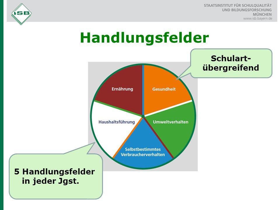 Handlungsfelder Schulart- übergreifend 5 Handlungsfelder in jeder Jgst.