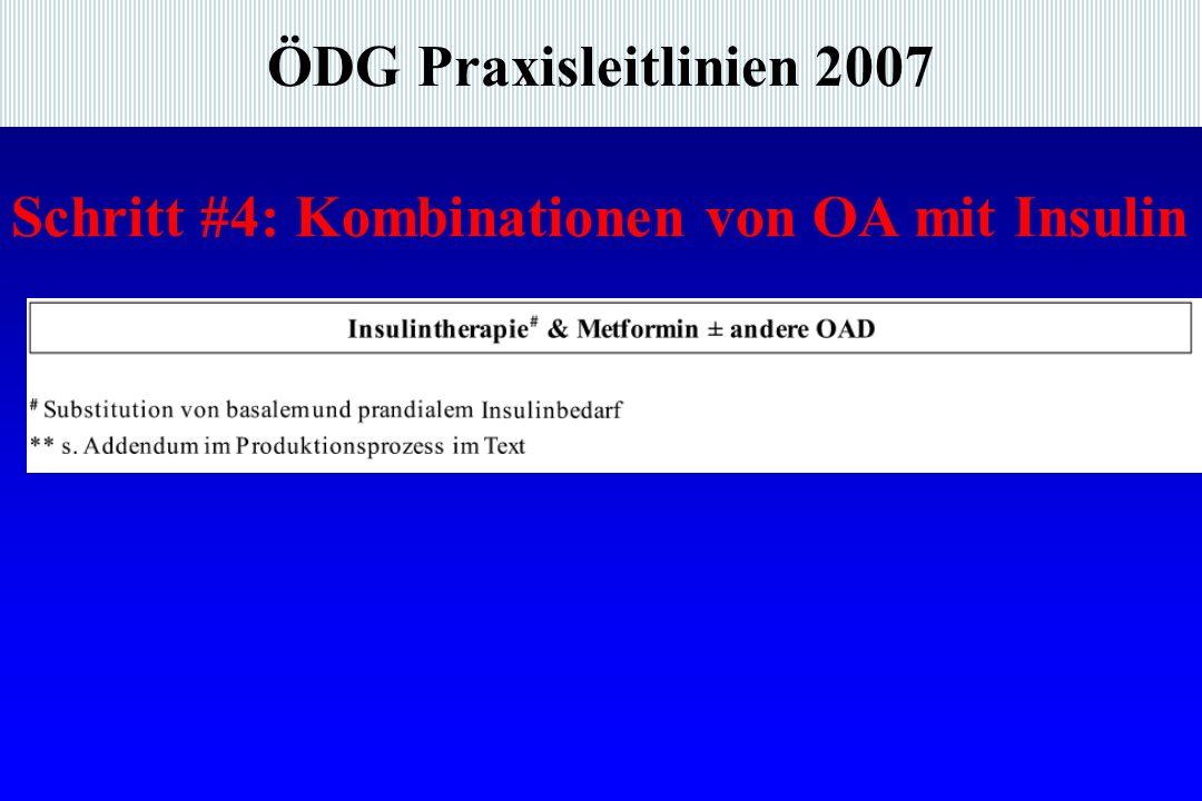 ÖDG Praxisleitlinien 2007 Schritt #4: Kombinationen von OA mit Insulin