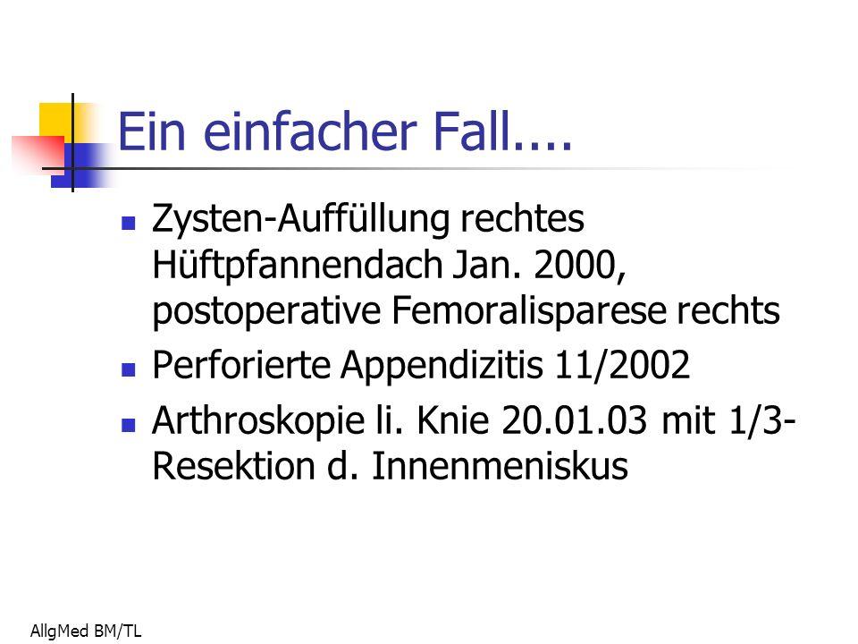 AllgMed BM/TL Ein einfacher Fall.... Zysten-Auffüllung rechtes Hüftpfannendach Jan.