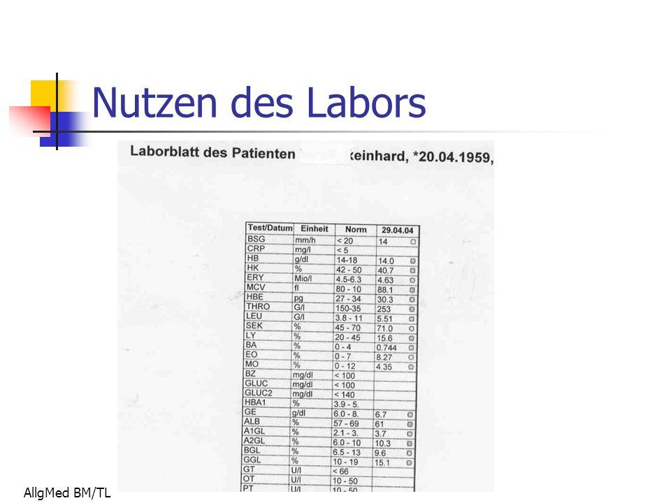 AllgMed BM/TL Nutzen des Labors