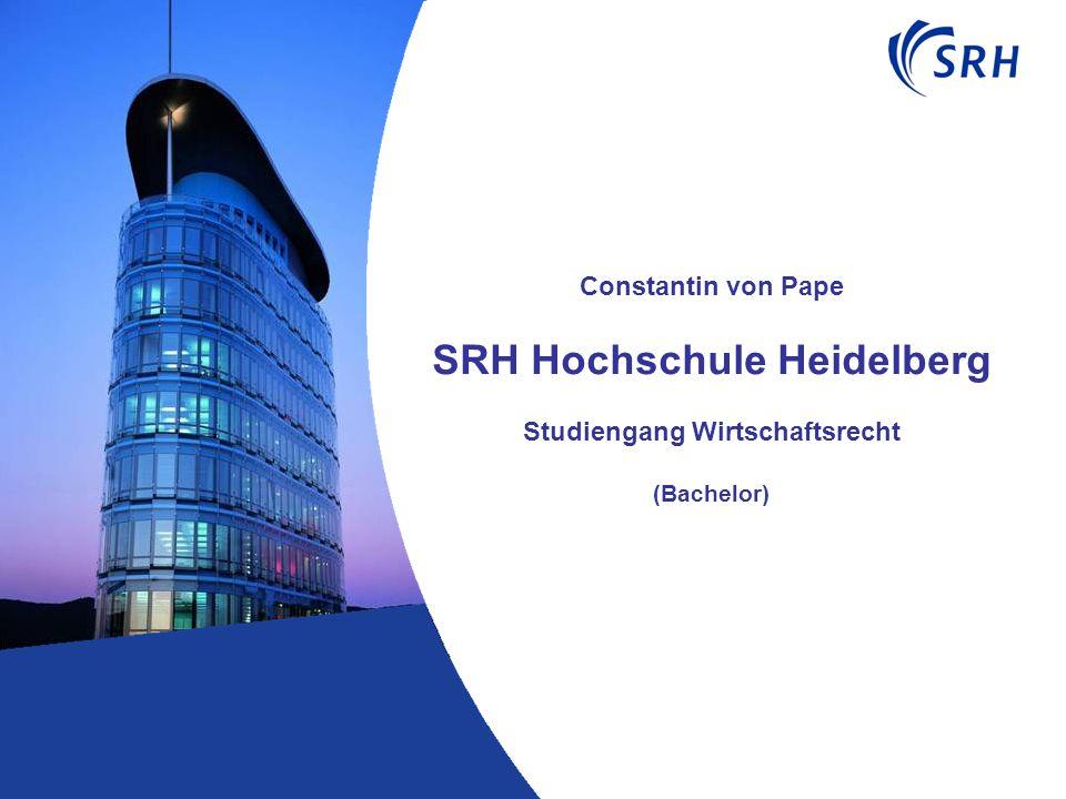 Constantin von Pape SRH Hochschule Heidelberg Studiengang Wirtschaftsrecht (Bachelor)