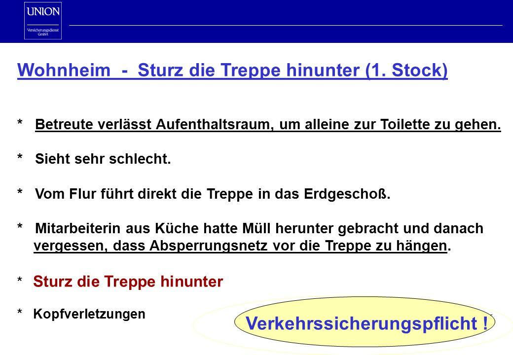 Wohnheim - Sturz die Treppe hinunter (1.