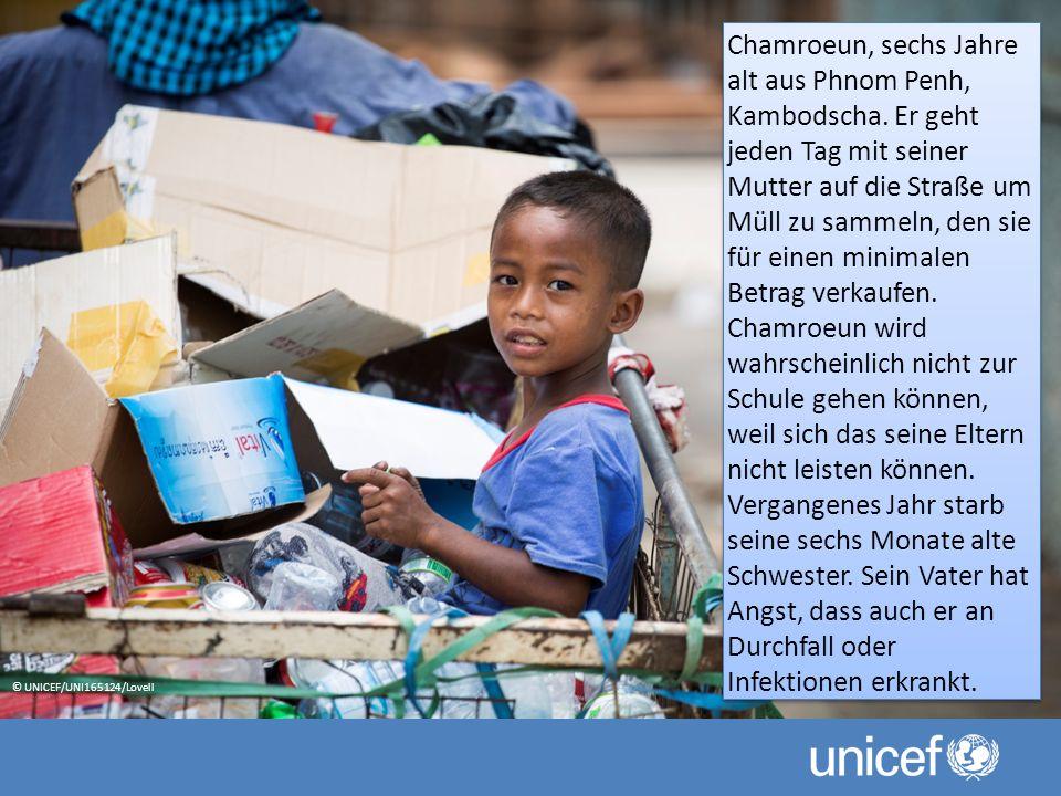 Chamroeun, sechs Jahre alt aus Phnom Penh, Kambodscha.