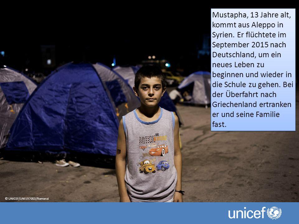 Mustapha, 13 Jahre alt, kommt aus Aleppo in Syrien.