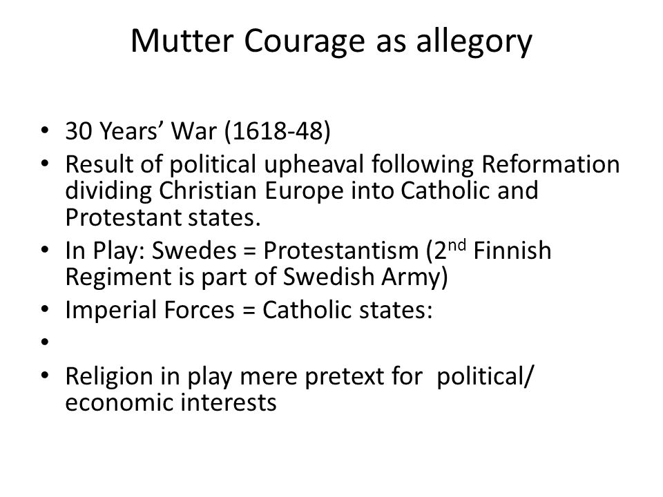 Mutter Courage and 'history' What is 'history'.Who writes 'history', what does it consist of.