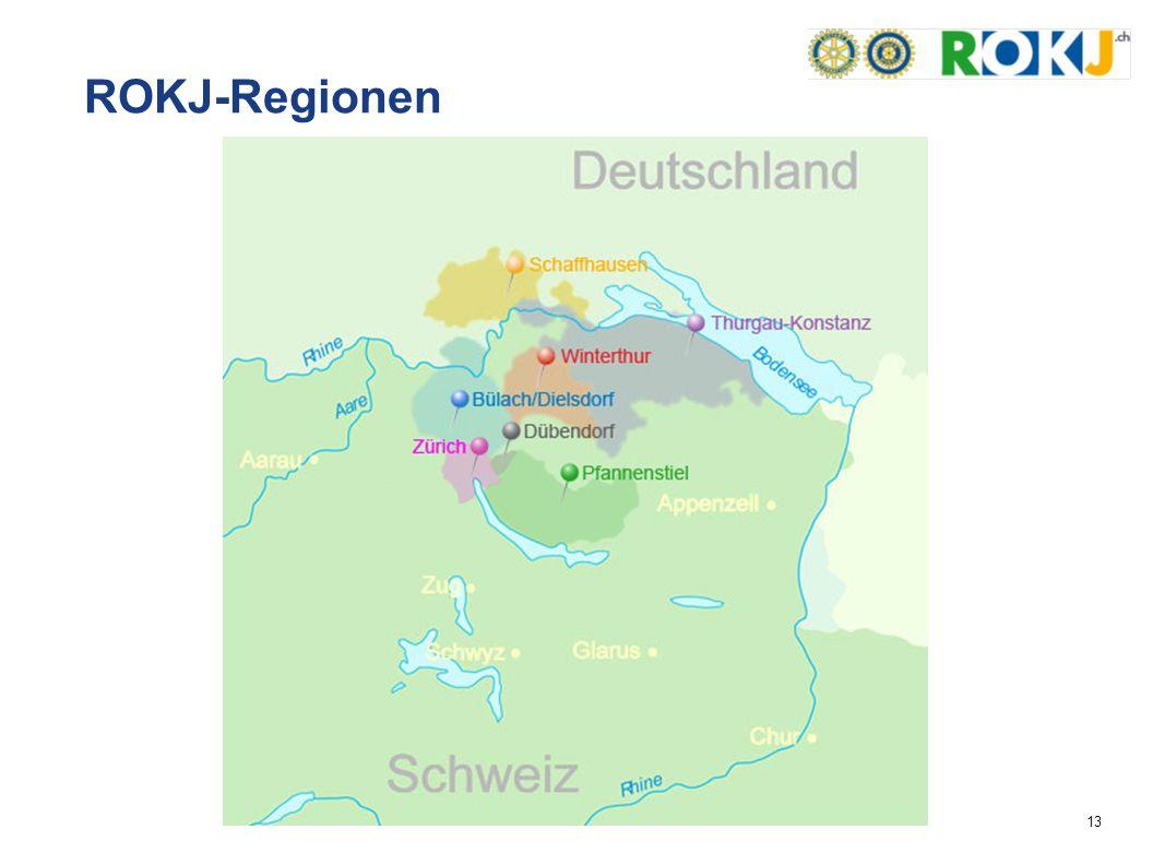 13 ROKJ-Regionen