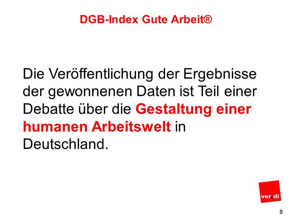 7 DGB-Index Gute Arbeit® Die Beschäftigten sind Experten und Expertinnen ihrer individuellen Arbeitsbedingungen.