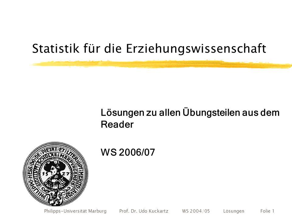 Philipps-Universität Marburg Prof.Dr.