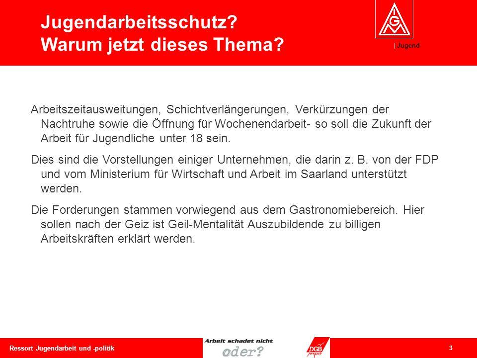 Jugend 4 Ressort Jugendarbeit und -politik 1839: Der Kommandeur der Rheinarmee, von Horn, stellte fest, dass die Kinderarbeit den Rekrutennachweis (d.h.