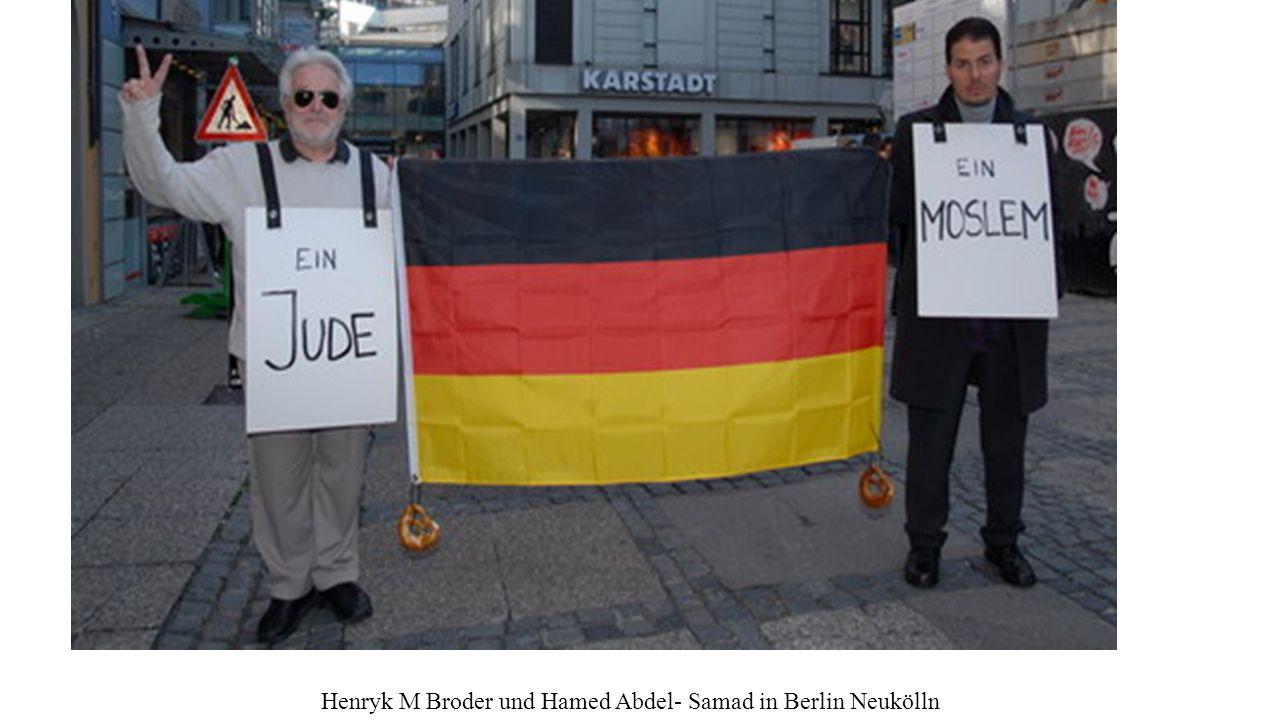 Henryk M Broder und Hamed Abdel- Samad in Berlin Neukölln