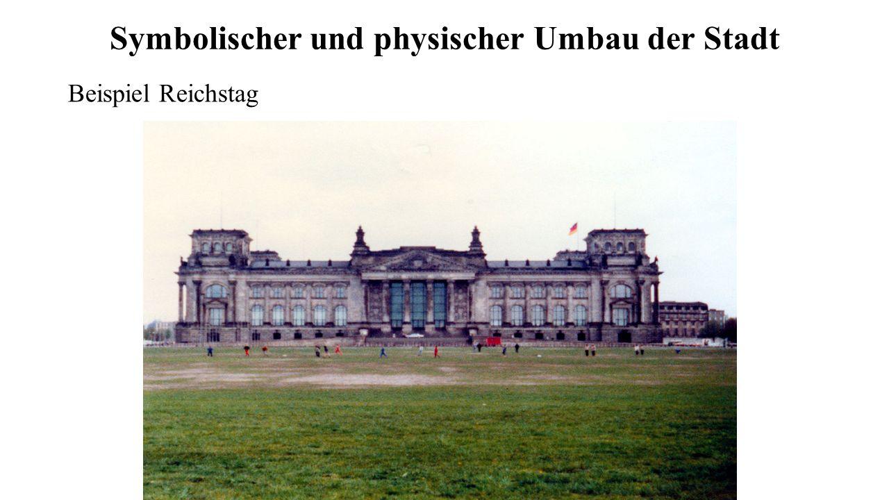 Symbolischer und physischer Umbau der Stadt Beispiel Reichstag