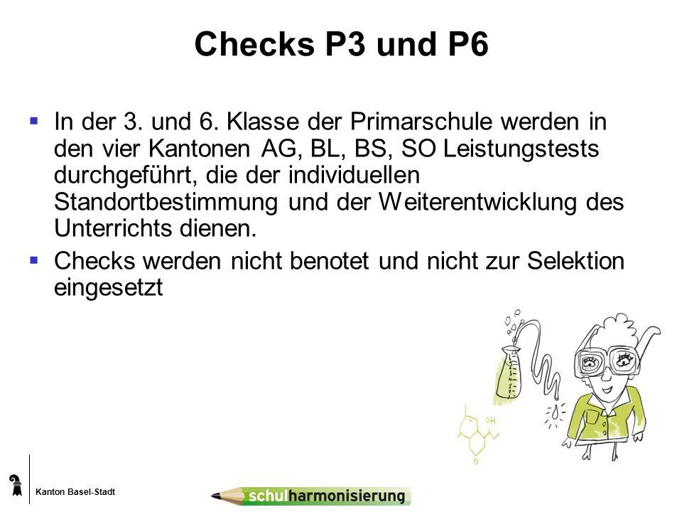 Kanton Basel-Stadt Checks P3 und P6  In der 3. und 6.