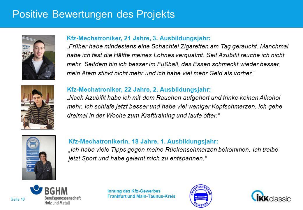 Seite 18 Positive Bewertungen des Projekts Kfz-Mechatroniker, 21 Jahre, 3.