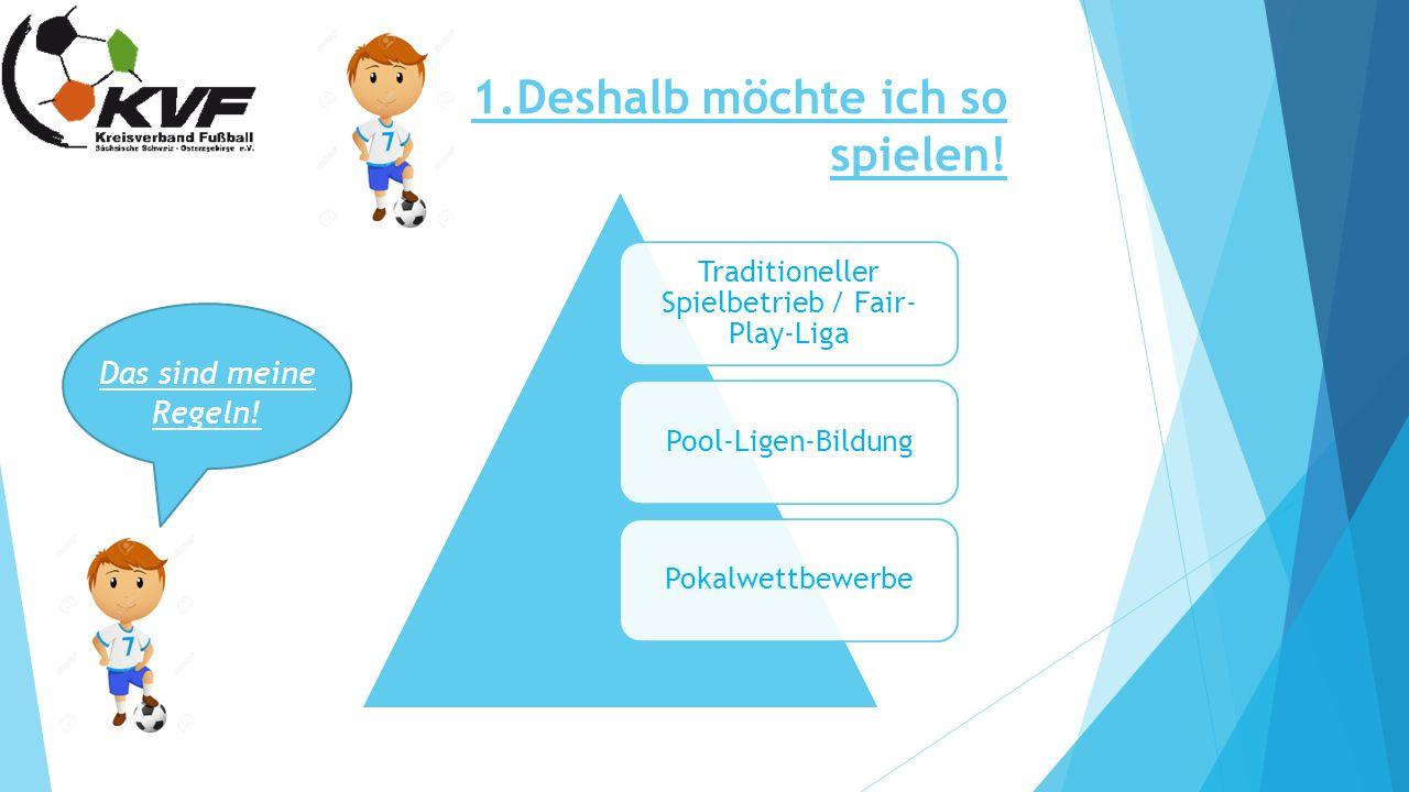 1.Deshalb möchte ich so spielen! Das sind meine Regeln! Traditioneller Spielbetrieb / Fair- Play-Liga Pool-Ligen-BildungPokalwettbewerbe