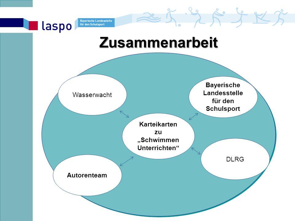 """Zusammenarbeit Karteikarten zu """"Schwimmen Unterrichten Wasserwacht Bayerische Landesstelle für den Schulsport Autorenteam DLRG"""