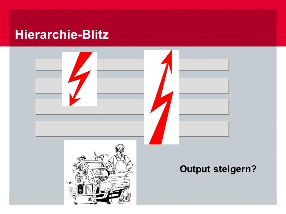 Hierarchie-Blitz Output steigern
