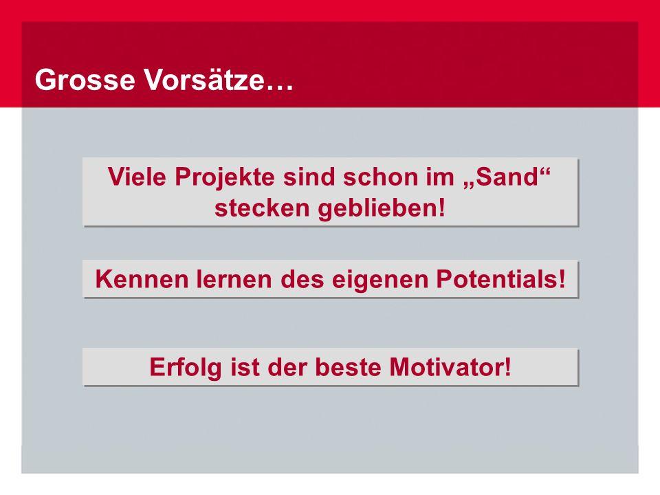 """Grosse Vorsätze… Erfolg ist der beste Motivator! Viele Projekte sind schon im """"Sand"""" stecken geblieben! Viele Projekte sind schon im """"Sand"""" stecken ge"""