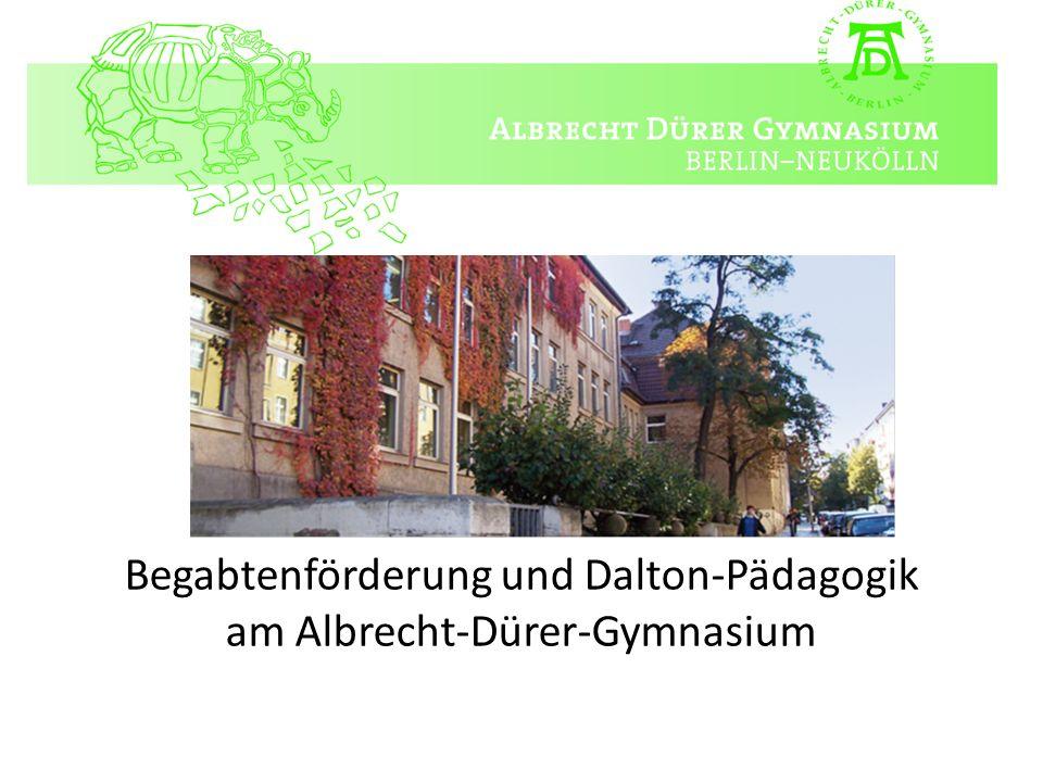 Leidenschaft für Vielfalt Begabtenförderung und Dalton-Pädagogik am Albrecht-Dürer-Gymnasium
