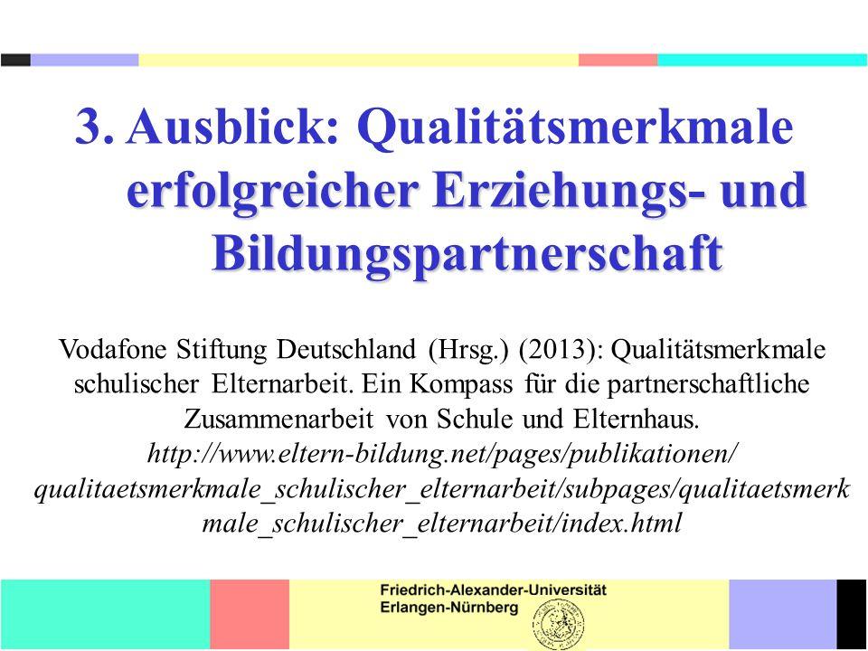 erfolgreicher Erziehungs- und Bildungspartnerschaft 3.