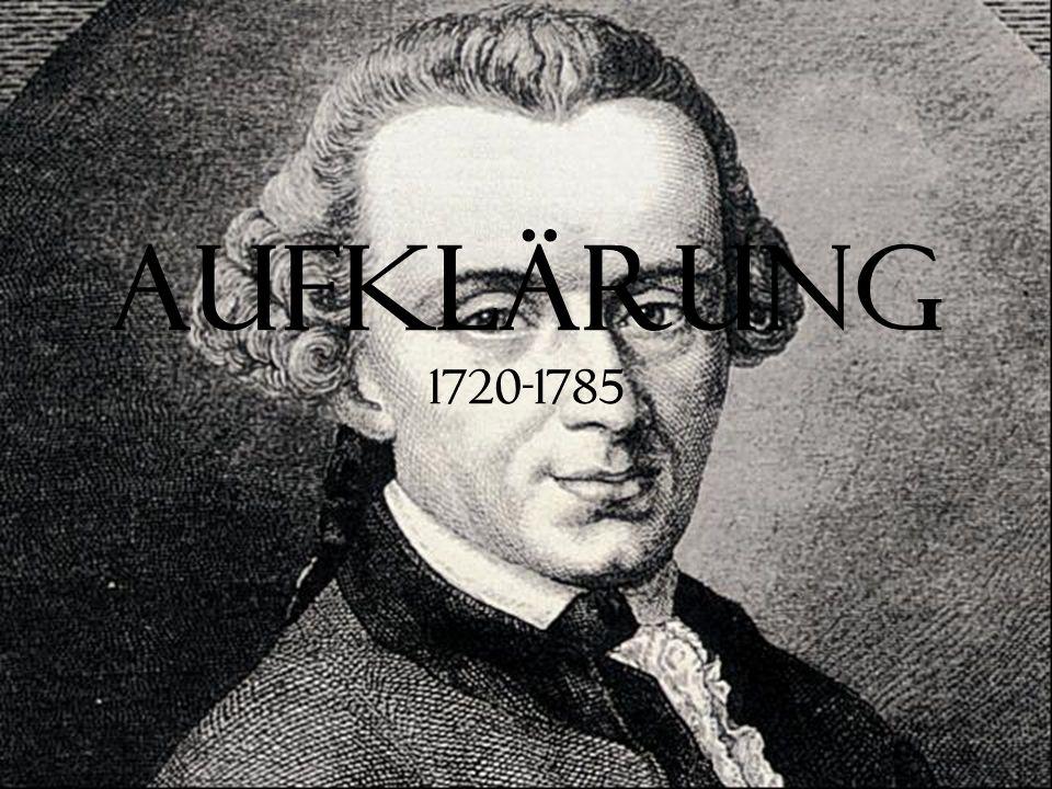 Aufklärung 1720-1785