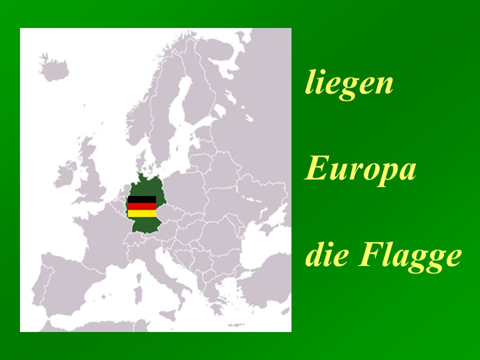 liegen Europa die Flagge