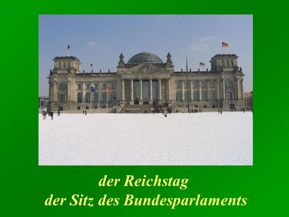 der Reichstag der Sitz des Bundesparlaments