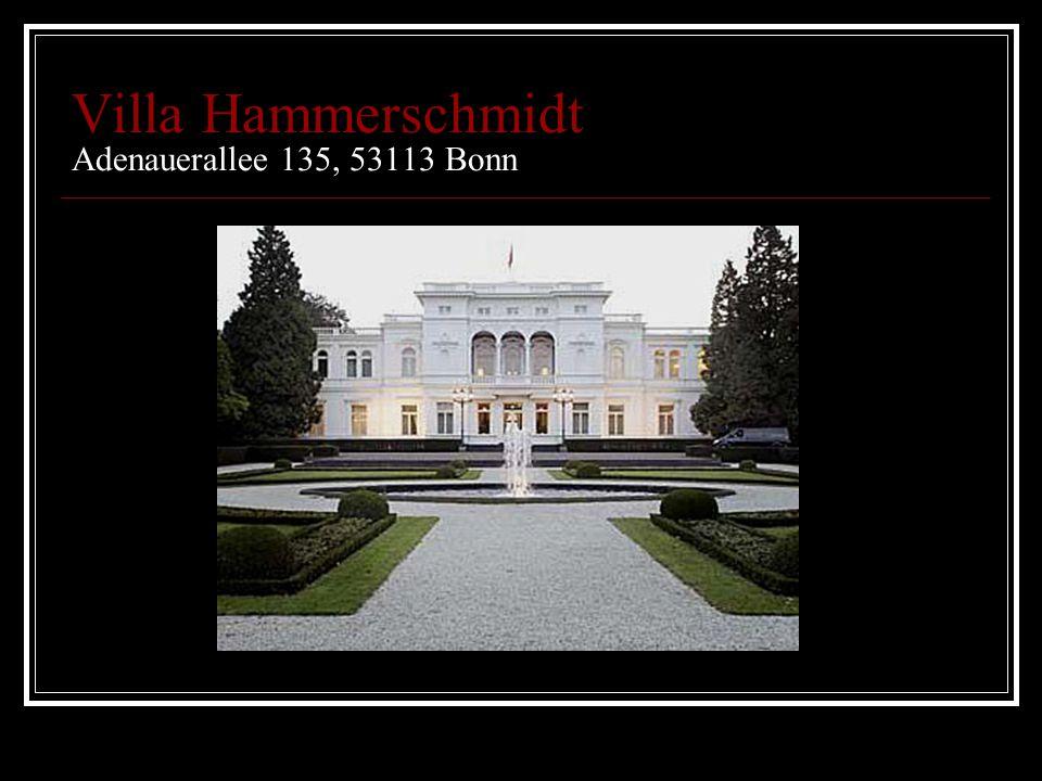 Villa Hammerschmidt Adenauerallee 135, 53113 Bonn