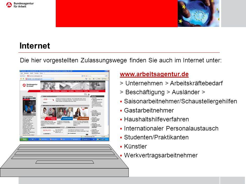 www.arbeitsagentur.de > Unternehmen > Arbeitskräftebedarf > Beschäftigung > Ausländer >  Saisonarbeitnehmer/Schaustellergehilfen  Gastarbeitnehmer 