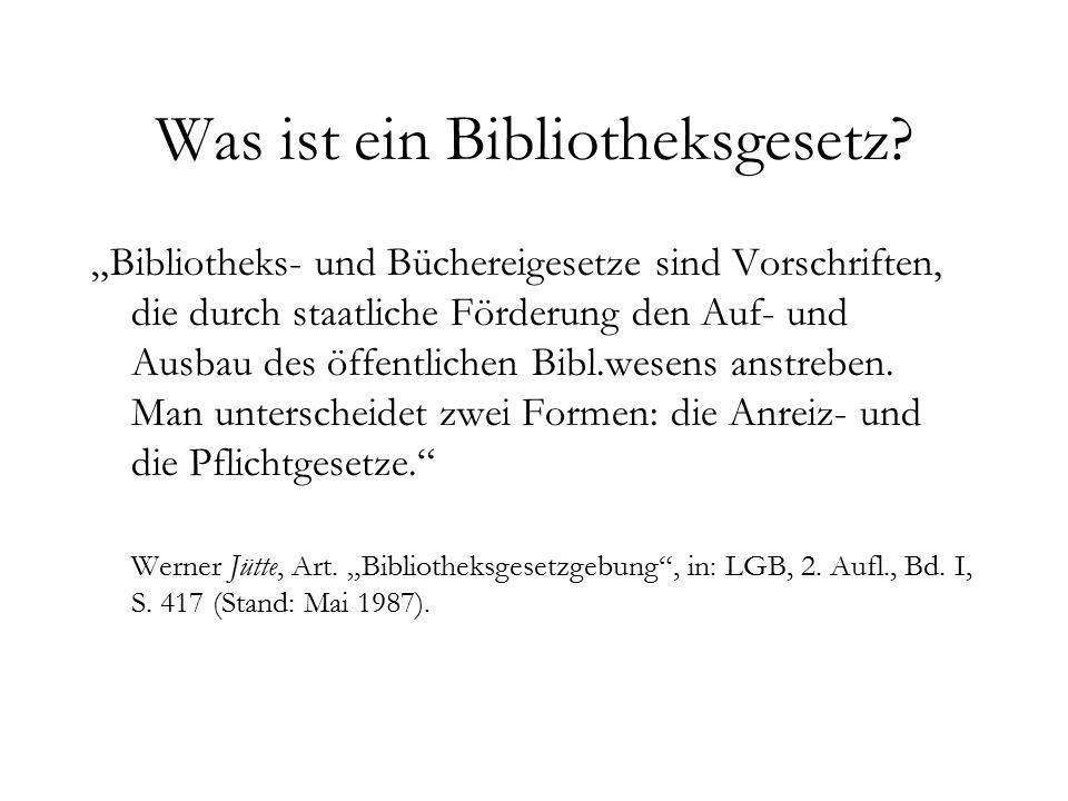 Ausblick.In Thüringen wurde das erste deutsche Bibliotheksgesetz verabschiedet.