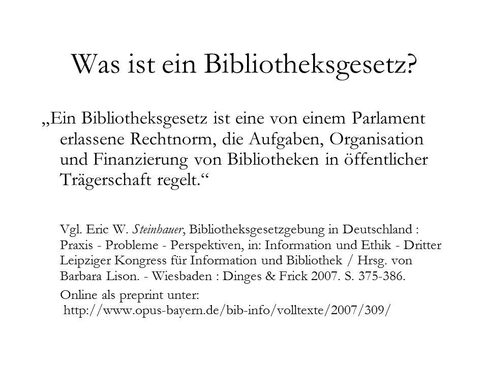 Was ist ein Bibliotheksgesetz.