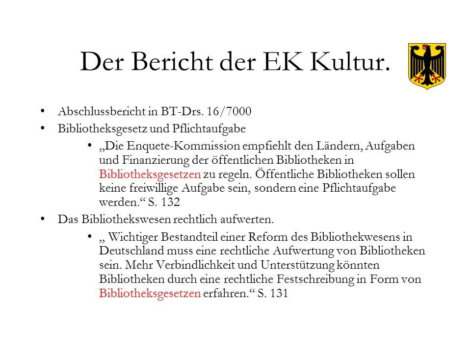 Der Bericht der EK Kultur. Abschlussbericht in BT-Drs.