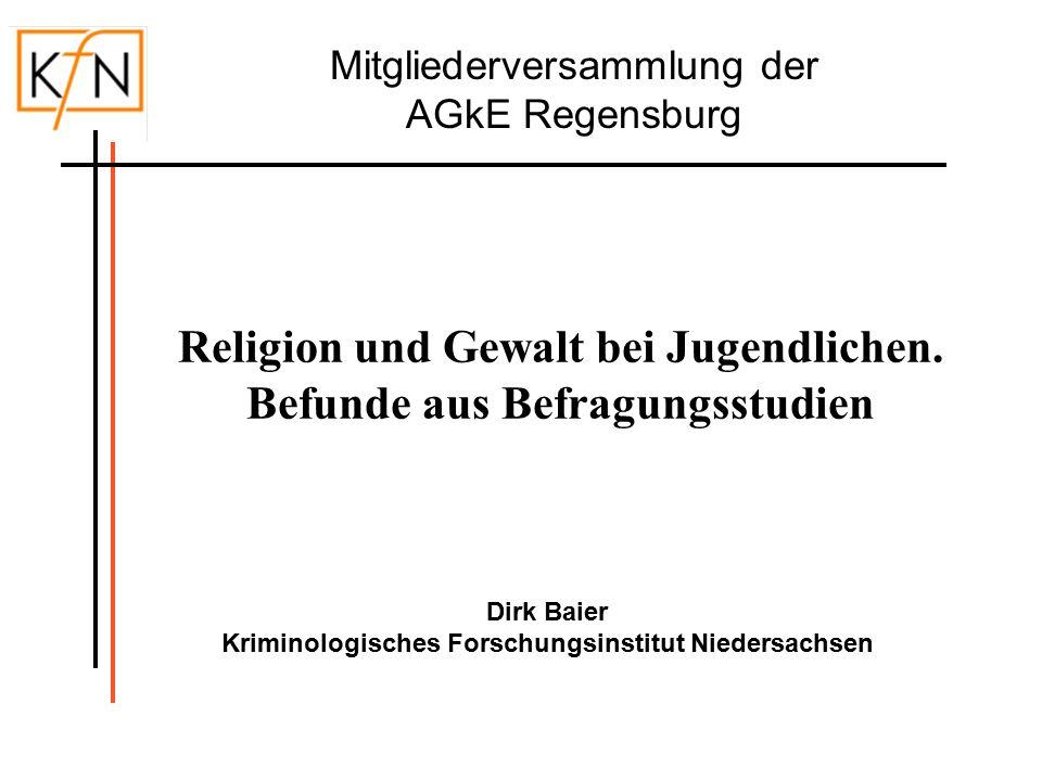32 Gewalttätiges Verhalten nach Konfessionszugehörigkeit und Religiosität (in %; gewichtete Daten; nur deutsche Befragte) Religion