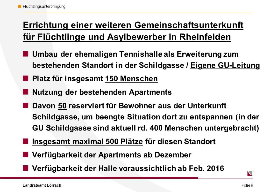 Landratsamt Lörrach Flüchtlingsunterbringung Folie 10 Erdgeschoss