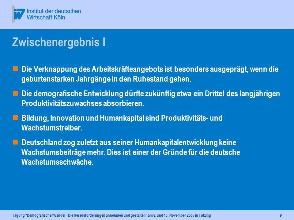 Tagung Demografischer Wandel - Die Herausforderungen annehmen und gestalten am 9.
