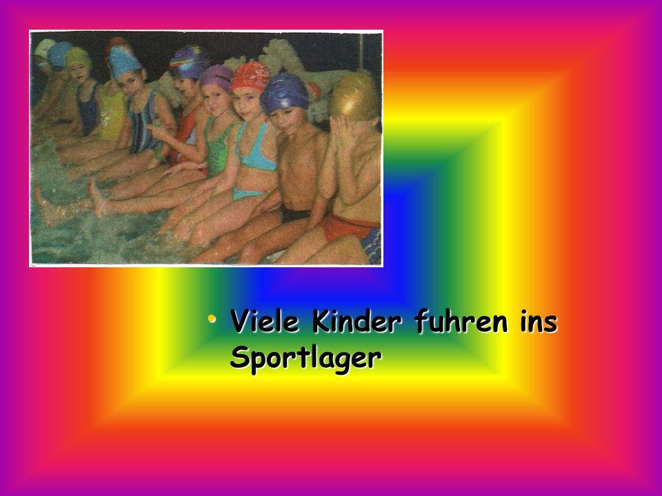Viele Kinder fuhren ins Sportlager Viele Kinder fuhren ins Sportlager