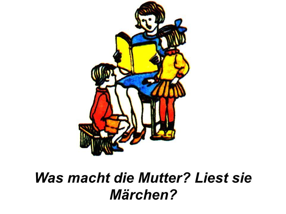 Übung 5. Ответь на вопросы, как в образце: Was macht der Junge.