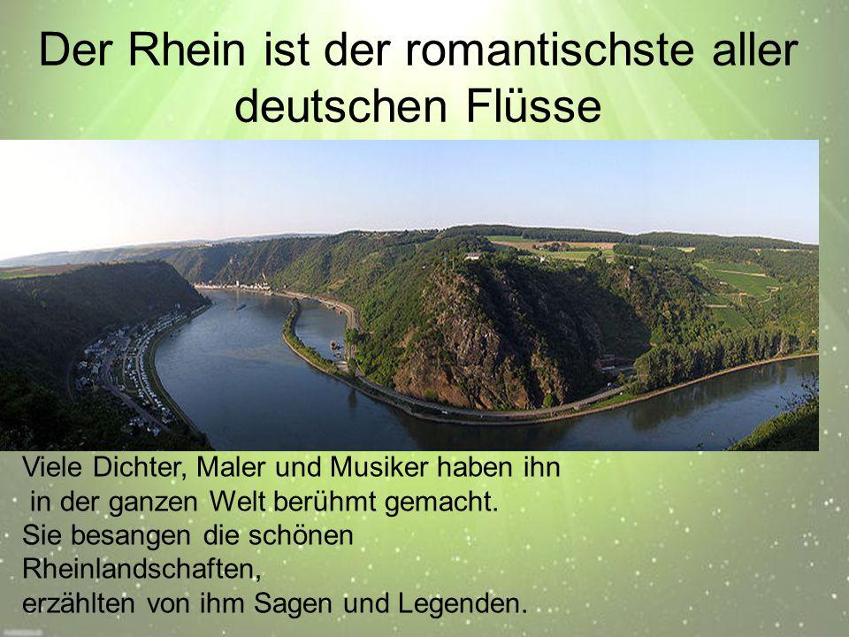 Loreleifelsen Am Rhein, zwischen den Städten Bingen und Koblenz steht ein Felsen.