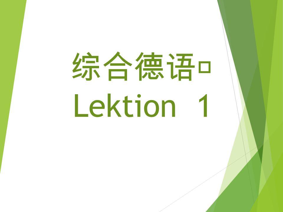 综 合德 语Ⅰ Lektion 1