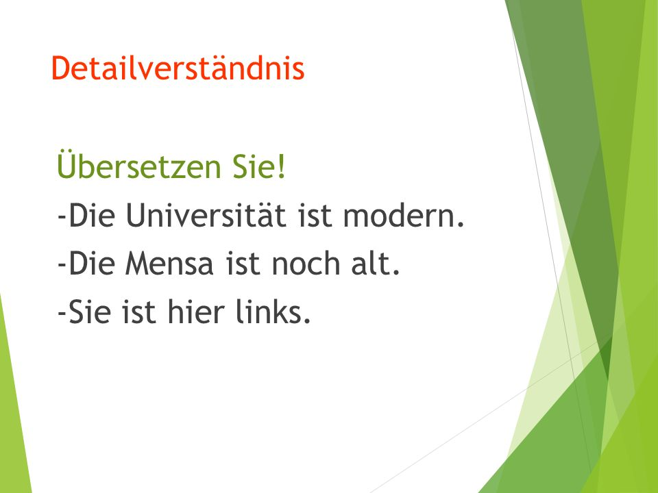 Grammatik Imperativ (1) 针对 Sie 的尊称命令式 尊称命令式与直 陈 式 现 在 时 形式相同 ,动词 位于 句首 , 主 语 Sie 居第二位 。 Beispiel: Nehmen Sie bitte Platz.