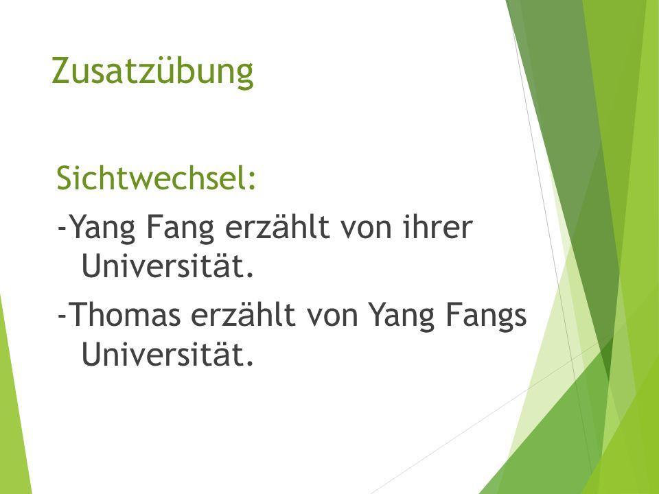 Detailverständnis Übersetzen Sie. -Die Universität ist modern.