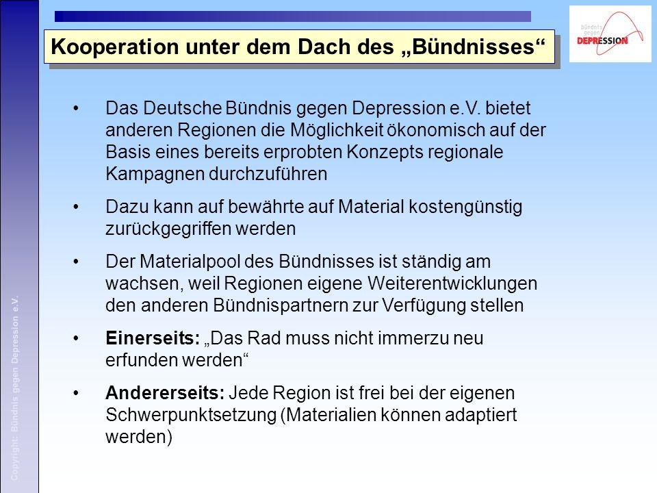 Copyright: Bündnis gegen Depression e.V. Das Deutsche Bündnis gegen Depression e.V.