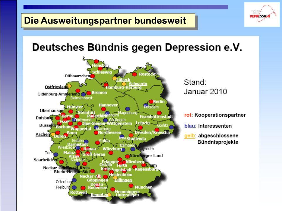 Copyright: Bündnis gegen Depression e.V. Die Ausweitungspartner bundesweit