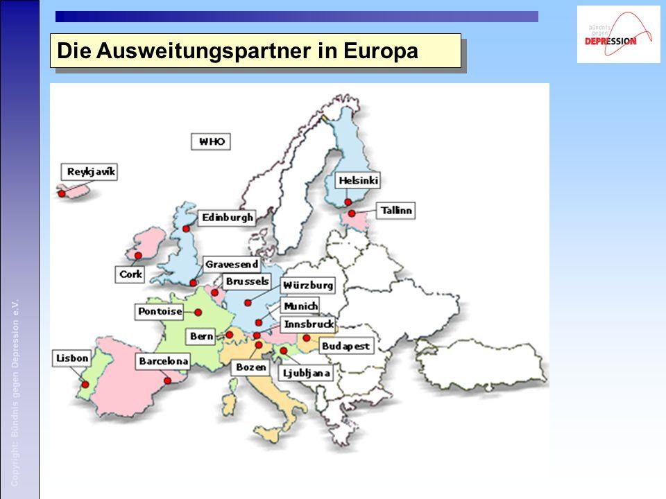 Copyright: Bündnis gegen Depression e.V. Die Ausweitungspartner in Europa