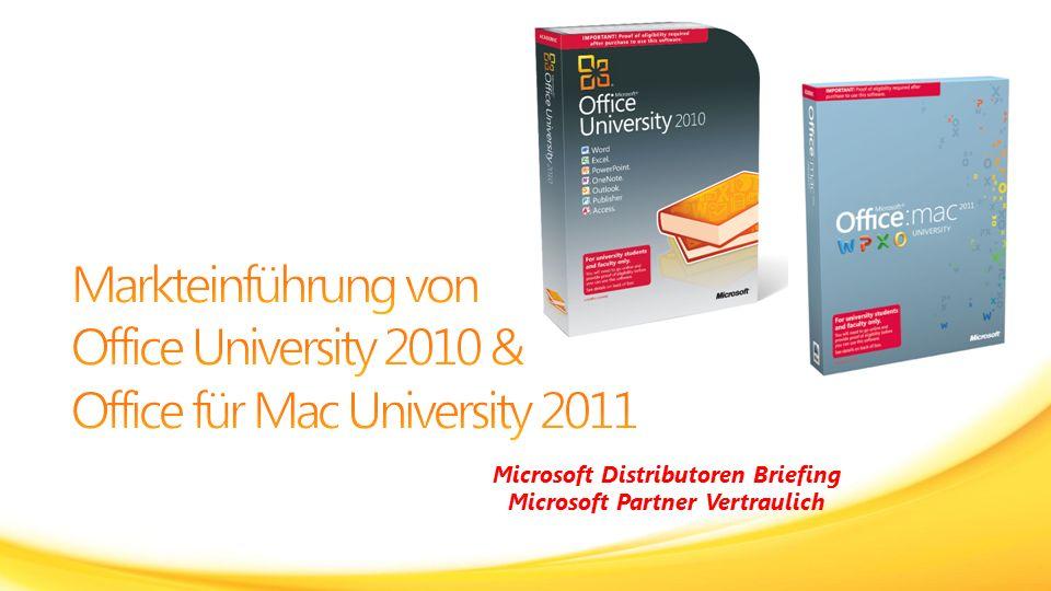 Überblick und Verkaufsrichtlinien zu Office University 2010 und Office für Mac University 2011 Online-Nachweis-PrüfungPaket / Verpackung