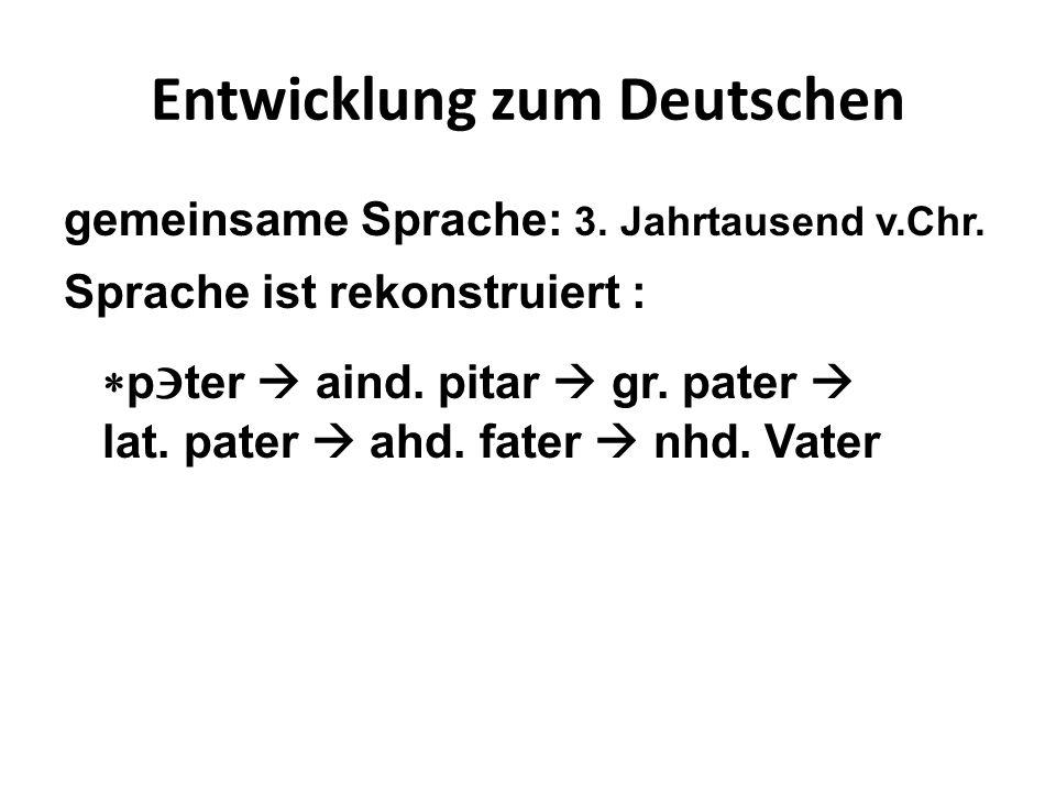 Entwicklung zum Deutschen gemeinsame Sprache: 3. Jahrtausend v.Chr.