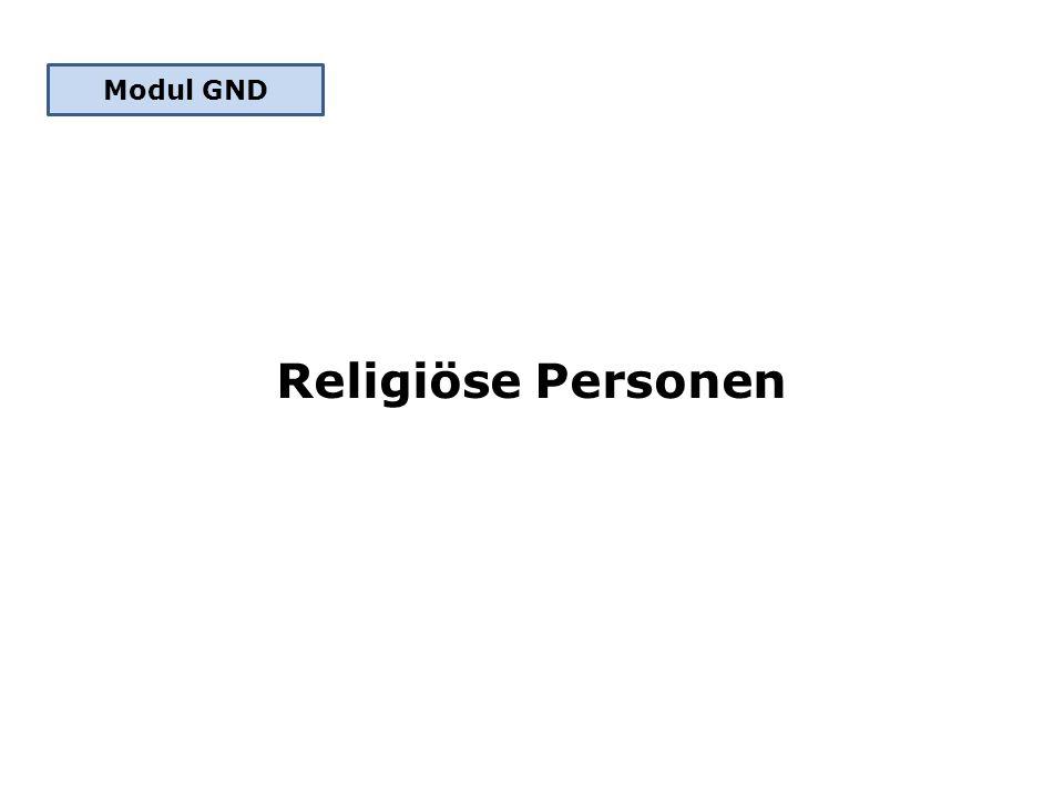 Religiöse Personen Modul GND