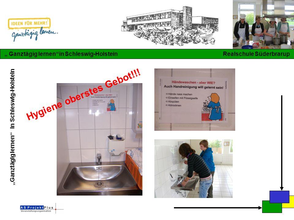 """""""Ganztägig lernen in Schleswig-Holstein """" Ganztägig lernen in Schleswig-Holstein Realschule Süderbrarup Hygiene oberstes Gebot!!!"""