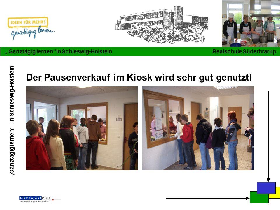 """""""Ganztägig lernen in Schleswig-Holstein """" Ganztägig lernen in Schleswig-Holstein Realschule Süderbrarup Der Pausenverkauf im Kiosk wird sehr gut genutzt!"""