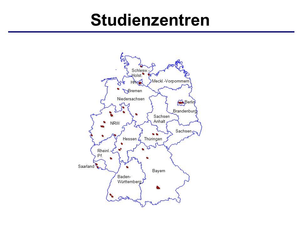 Studienzentren Bayern Baden- Württemberg Saarland Sachsen ThüringenHessen Rheinl.- Pf.